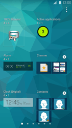 Samsung Galaxy S 5 - Getting started - Installing widgets and applications on your start screen - Step 5