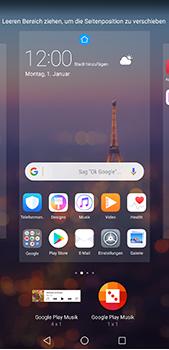 Huawei P20 Pro - Startanleitung - Installieren von Widgets und Apps auf der Startseite - Schritt 7