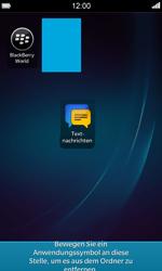 BlackBerry Z10 - Startanleitung - Personalisieren der Startseite - Schritt 9