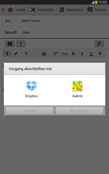 Samsung Galaxy Note 8-0 - E-Mail - E-Mail versenden - 12 / 19