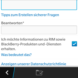 BlackBerry Q5 - Apps - Konto anlegen und einrichten - 12 / 15