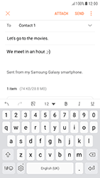 Samsung A520F Galaxy A5 (2017) - Android Nougat - E-mail - Sending emails - Step 18