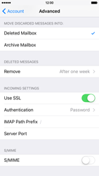 Apple iPhone 6 iOS 9 - E-mail - Manual configuration IMAP without SMTP verification - Step 24