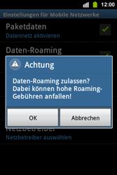 Samsung Galaxy Ace i - Ausland - Im Ausland surfen – Datenroaming - 9 / 11