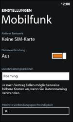 Nokia Lumia 800 / Lumia 900 - Internet und Datenroaming - Deaktivieren von Datenroaming - Schritt 5