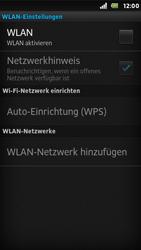 Sony Xperia U - WLAN - Manuelle Konfiguration - Schritt 6