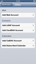 Apple iPhone 5 - E-mail - Manual configuration IMAP without SMTP verification - Step 7