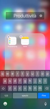 Apple iPhone X - iOS 12 - Operazioni iniziali - Personalizzazione della schermata iniziale - Fase 7