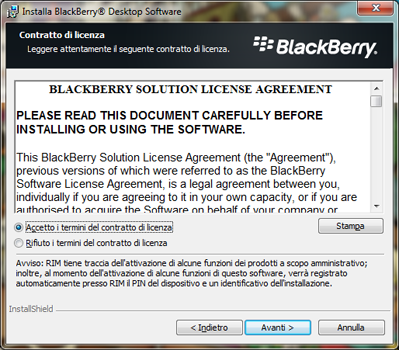 BlackBerry Q10 - Software - Installazione del software di sincronizzazione PC - Fase 7