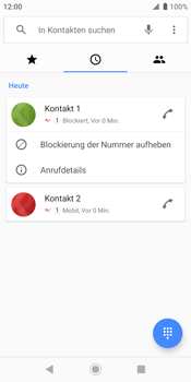 Sony Xperia XZ2 - Android Pie - Anrufe - Anrufe blockieren - Schritt 7