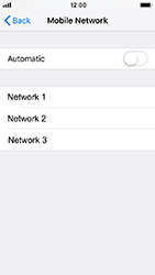 Apple iPhone 5s - iOS 12 - Network - Manually select a network - Step 6