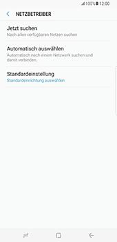 Samsung Galaxy S8 Plus - Netzwerk - Manuelle Netzwerkwahl - Schritt 7