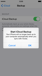 Apple iPhone 5s iOS 8 - Applications - Configuring the Apple iCloud Service - Step 12