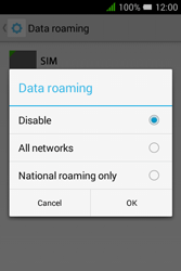 Alcatel Pixi 3 (3.5) - Internet and data roaming - Disabling data roaming - Step 8