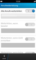 BlackBerry Z10 - Anrufe - Rufumleitungen setzen und löschen - 1 / 1