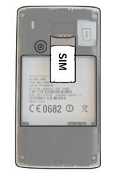 Sony Ericsson Xperia X8 - SIM-Karte - Einlegen - Schritt 3