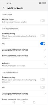 Huawei Nova 5T - Internet und Datenroaming - Prüfen, ob Datenkonnektivität aktiviert ist - Schritt 5