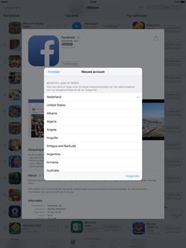Apple iPad Pro 12.9 inch met iOS9 (Model A1652) - Applicaties - Account aanmaken - Stap 8