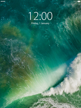 Apple iPad Mini 3 iOS 10 - iOS features - Lock screen feature - Step 2