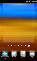 Samsung Galaxy S Advance - Operazioni iniziali - Installazione di widget e applicazioni nella schermata iniziale - Fase 4