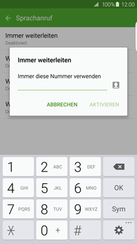 Samsung Galaxy S6 edge+ - Anrufe - Rufumleitungen setzen und löschen - 0 / 0