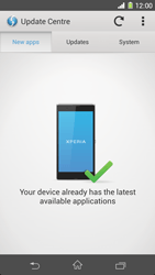 Sony Xperia Z1 - Software - Installing software updates - Step 7
