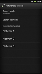 Sony Xperia S - Network - Manual network selection - Step 9