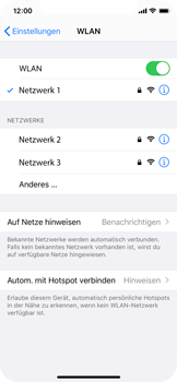 Apple iPhone XS - iOS 13 - WiFi - WiFi-Konfiguration - Schritt 7