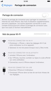 Apple iPhone 6 Plus - iOS 11 - Internet et connexion - Partager votre connexion en Wi-Fi - Étape 4