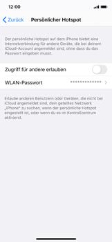 Apple iPhone X - iOS 14 - WiFi - So aktivieren Sie einen WLAN-Hotspot - Schritt 6