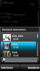 Nokia X6-00 - E-mail - hoe te versturen - Stap 12