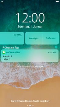 Apple iPhone 8 Plus - iOS 11 - Sperrbildschirm und Benachrichtigungen - 6 / 10