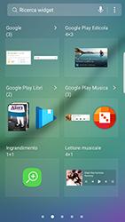 Samsung Galaxy S6 Edge - Android Nougat - Operazioni iniziali - Installazione di widget e applicazioni nella schermata iniziale - Fase 4