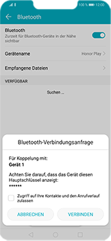 Huawei Honor Play - Bluetooth - Geräte koppeln - 9 / 11