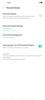 Oppo Find X2 Pro - WiFi - How to enable WiFi hotspot - Step 6