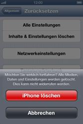 Apple iPhone 4 - Gerät - Zurücksetzen auf die Werkseinstellungen - Schritt 8