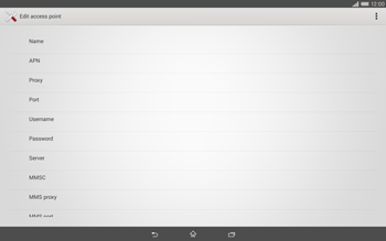Sony Xperia Tablet Z2 LTE - MMS - Manual configuration - Step 9