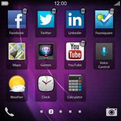 BlackBerry Q10 - Getting started - Personalising your Start screen - Step 4