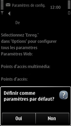 Nokia 500 - Internet - configuration automatique - Étape 7