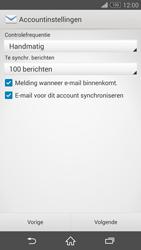 Sony D6603 Xperia Z3 - E-mail - Handmatig instellen - Stap 17