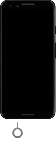 Google Pixel 3 - Premiers pas - Insérer la carte SIM - Étape 2