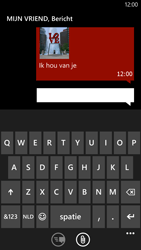 HTC Windows Phone 8X - MMS - Afbeeldingen verzenden - Stap 11