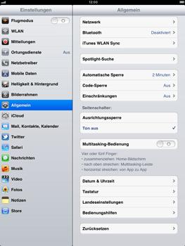 Apple iPad 2 - Fehlerbehebung - Handy zurücksetzen - 0 / 0