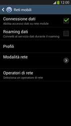 Samsung Galaxy S 4 Active - Internet e roaming dati - Come verificare se la connessione dati è abilitata - Fase 7