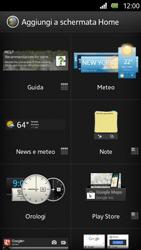 Sony Xperia U - Operazioni iniziali - Installazione di widget e applicazioni nella schermata iniziale - Fase 5