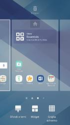 Samsung Galaxy A3 (2017) - Operazioni iniziali - Installazione di widget e applicazioni nella schermata iniziale - Fase 4