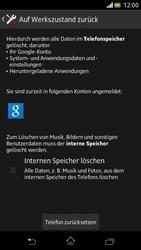 Sony Xperia V - Gerät - Zurücksetzen auf die Werkseinstellungen - Schritt 6