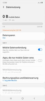 Samsung Galaxy A51 - Internet und Datenroaming - Prüfen, ob Datenkonnektivität aktiviert ist - Schritt 7