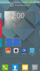 Alcatel One Touch Idol Mini - Startanleitung - Installieren von Widgets und Apps auf der Startseite - Schritt 5
