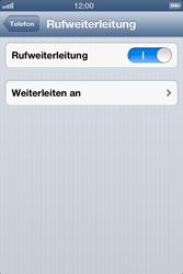 Apple iPhone 4 - Anrufe - Rufumleitungen setzen und löschen - Schritt 7
